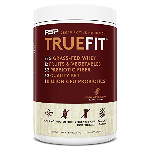 RSP TrueFit - Grass Fed Lean Meal Replacement Protein Shake, All Natural Whey Protein Powder with...