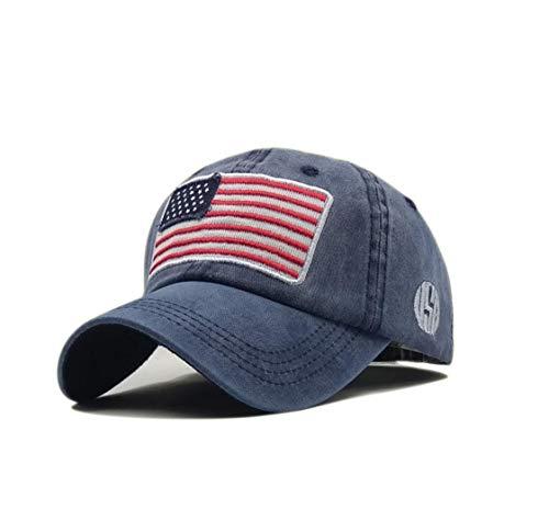 XibeiTrade Gorra de béisbol de la bandera estadounidense de los E.E.U.U. estilo polo bordado ejército militar lavado sombrero