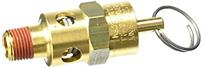 Control Devices ST2512-1A150 ST Series Brass Soft Seat ASME Safety Valve, 150 psi Set Pressure, 1/8 Male NPT from Control Devices