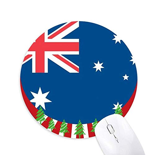 Australien Nationalflagge Oceania Country Round Rubber Mouse Pad Weihnachtsdekoration