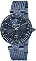 Just Cavalli Glam Reale Stainless Steel Watch JC1L169M0055 - Quartz Analog for Women in Stainless Steel Strap
