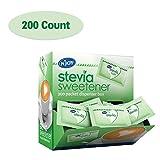 N'Joy Zero Calorie Sweetener, Green Stevia Packets, Kosher, Gluten Free and Sodium Free, 200 Count