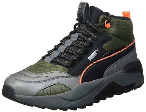 PUMA X-Ray 2 Square Mid WTR, Sneaker Unisex-Adulto, (Forest Night Black/Dark Shadow/Ultra Orange), 42 EU