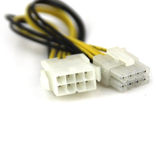 VCOM 12-Inch VC-POW8EXT 8-Pin to 8-Pin Power Supply Extension Cable (CE314)