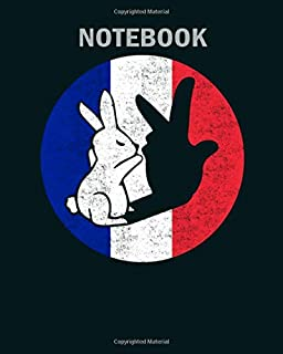 Notebook: france bunny rabbit puppet show hand shadow gift1 - 50 sheets, 100 pages - 8 x 10 inches