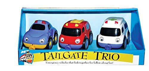 Small World Toys Maternelle – magnétique Tailgate Trio – Véhicules de Secours