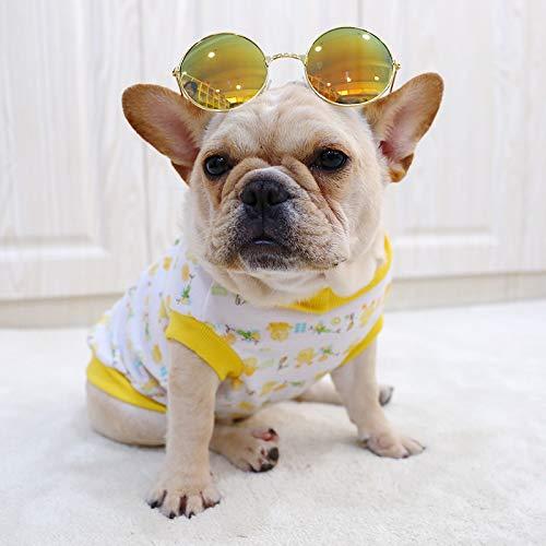 QZXCD Kleding voor dieren van Moda lente en zomer Nieuwste wet gevechten kleding klein gele eend katoen vest zonder mouwen kleding kleding, L, D