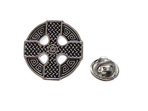 Round Celtic Cross Design Lapel Pin