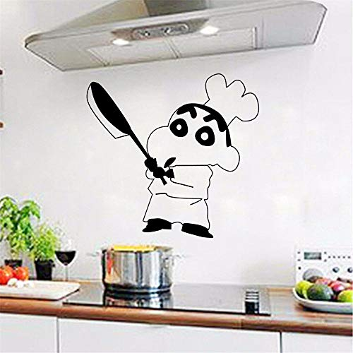 Cocina Cocina Chef Etiqueta de la pared Restaurante Hotel Ventana Vidrio Decoración Hogar Gabinete Azulejo Tallado Etiqueta Moda Vinilo Calcomanía 41x 35.6 cm