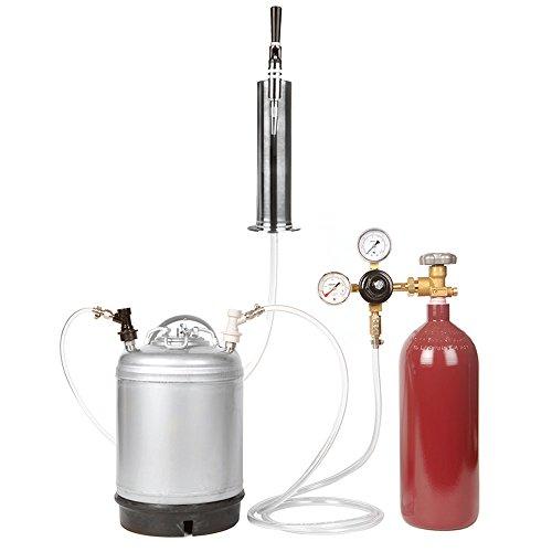 Nitro Coffee Cold Brew Coffee Keg Kit - 2.5 Gallon Keg, Nitrogen Tank, Tap, All Accessories