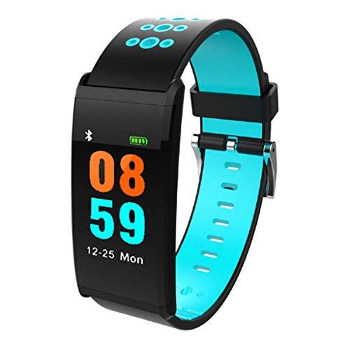 Gazechimp Rastreador de Ejercicios, Rastreador de Actividad con Monitor de Ritmo Cardíaco, 14 Modos Deportivos Smart Watch IP68 Podómetro Bluetooth Impermeable - Azul