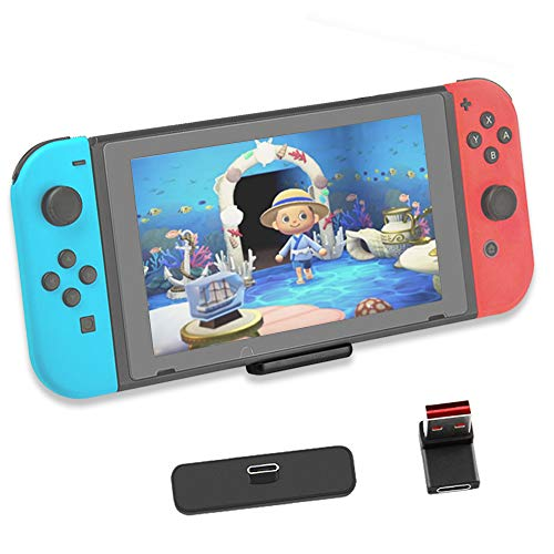 Bluetooth Adapter for Nintendo Switch & Lite,Bluetooth 5.0 USB-C Wireless Audio Transmitter Connector with All Bluetooth Speakers Headphones on PS5, Airpods,PS4/PC/Laptops, APTX Low Latency (Black)