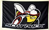 Lovely999 Scatpack Mopar Banner Flag Dodge Chrysler Auto Parts Racing Bee Pack Scat Perfect for Your Home Flagpole Tailgating Wall Banner Decoration