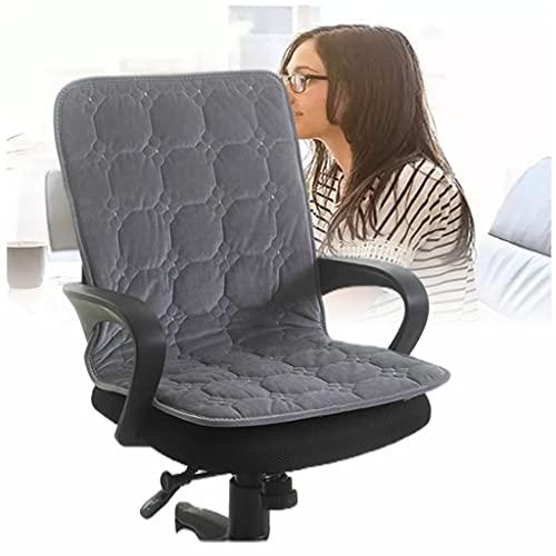 Cuscino Per Sedile Riscaldato Per Sedia Da Ufficio, Cuscino Per Sedia Riscaldante Per Sedere E Schiena Con 9 Impostazioni Di Riscaldamento Cuscino Per Sedia Riscaldato Integrato grey