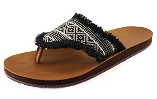 Feelgoodz Vegan Cabanas Flip-Flops, Seagreass (Beige), womens Size 9-100% Natural and All-Vegan Sandals, Fair Trade Certified, Consciously Sourced and Artisan-Crafted