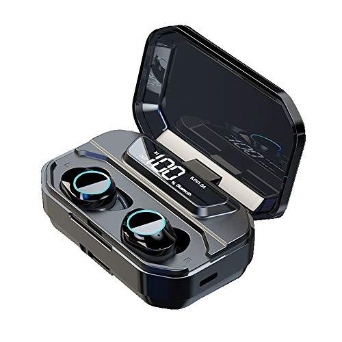 WANGLXBT StereoWireless Bluetooth Kopfhörer Sport,Kabellose Sportkopfhörer Noise Cancelling In Ear mit Bluetooth 5.0 Touch-Control Ohrhörer Headset mit Mikrofon für LaufenSport, Black