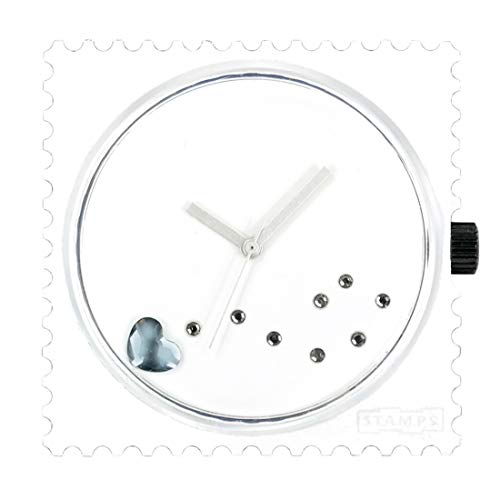 S.T.A.M.P.S. Stamps Uhr Zifferblatt Funky Blue Diamond mit zusätzlichem Sticker und Batterie