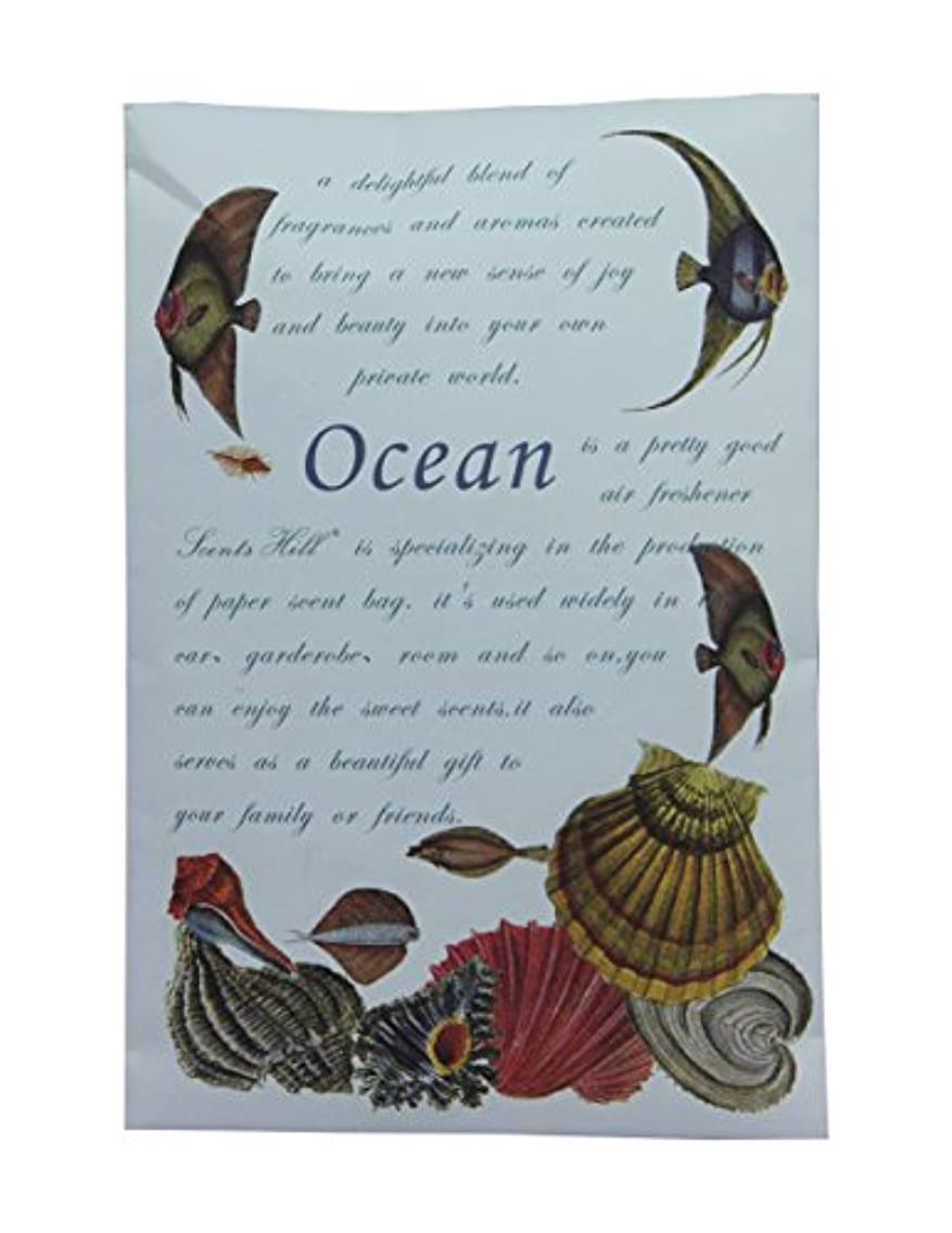 Scents Hill Scented Sachet Packets for Closets,Lot of 8 (Ocean)