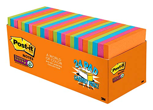 Post-it Super Sticky Notes, 3 in x 3 in, 24 Pads, 70 Sheets/Pad (654-24SSAU-CP) Photo #3