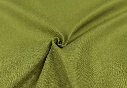 Generico Tessuto Idrorepellente al Mezzo Metro - Stoffa ANTIMACCHIA in Poliestere - Sabri Canvas - Morbido e Resistente - Altezza 140 cm - 1 QTA = 50 cm - 22 Colori (Verde 22)