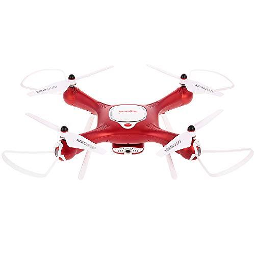 Auto Take Off/Landing Verstelbare 720P Camera Wifi FPV Drone Hoogte Houd Optische stroompositionering RC quadcopter, Zeer geschikt als cadeau voor uw kind,Red