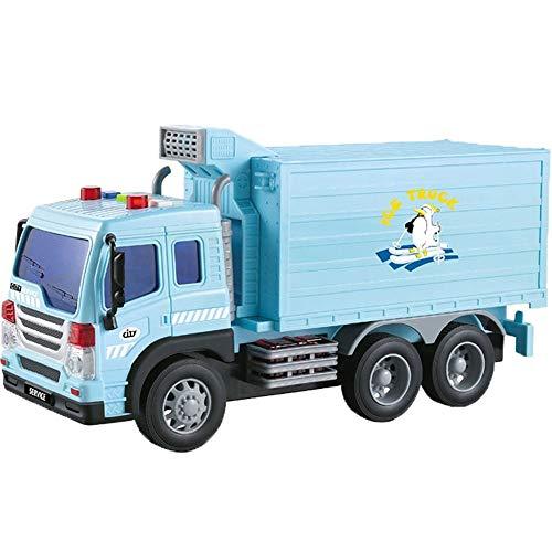 Xolye Große Stadt Gefrierschrank Auto Spielzeug Container KANN KÖNNEN TÜR KINDERS Spielzeugauto Simulation Sound und Licht Jungen und Mädchen Pädagogisches Spielzeugauto Geschenk