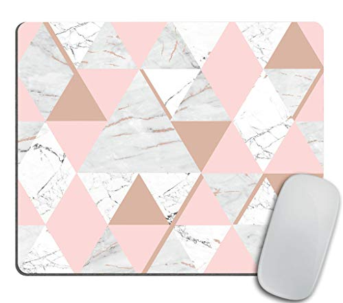 Pink and Gold Marble Mouse pad Rectangle Non-Slip Rubber Mousepad 9.5 X 7.9 Inch (240mmX200mmX3mm)