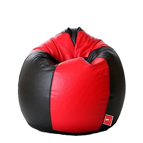 ComfyBean Bean Bag- Teardrop Shape - for Kids - Filled with Bean Filler (Color : Black & Red)