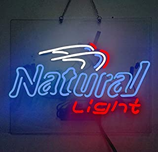 Natural Light Neon Sign Beer Bar Pub Store Party Room Wall Windows Display Neon Light 19x15