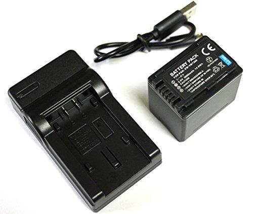 【エーポケ】 VW-VBT380-K互換バッテリー 1個 & USB急速互換充電器 1個●2点セット● 純正品と同じよう使用可能・残量表示可能● パナソニックPanasonic HC-V210M / HC-V230M / HC-V360M / HC-V480M / HC-V520M / HC-V550M / HC-V620M / HC-V720M / HC-V750M / HC-VX980M / HC-W570M / HC-W580M / HC-W850M / HC-W870M / HC-WX970M / HC-WX990M / HC-WXF990M