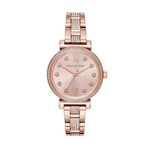 Michael Kors Damen Analog Quarz Uhr mit Edelstahl Armband MK3882