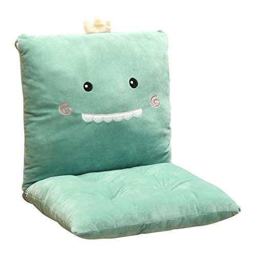 YYwl - Cojín para silla de oficina con diseño de caricatura siamesa, color verde
