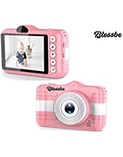 BLESSBE Digital Front and Rear Camera for Children Cute Camcorder Video Recorder Digital Camcorders (Pink)- BB17