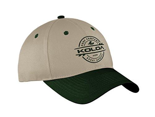 Koloa Surf Thruster Logo'Old School' Curved Bill Solid Snapback Hat -GreenTanGreen