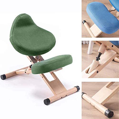 Jakroo Haltungskorrekturstuhl, für Das Heben Der Haltung, Dekor für Zuhause, Stuhl Mit Pedal für Füße, Mehrzweckstuhl,Grün