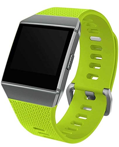 Bobo Compatible with Fitbit Ionic Strap Replacement Band Classic Metal Buckle Wristband Women Men… (Small (5.5' - 6.7'), Lime)