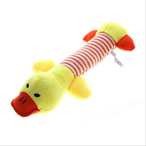 qwerbz Cute Dog Toy Plush Chew Squeak Juguetes para Mascotas