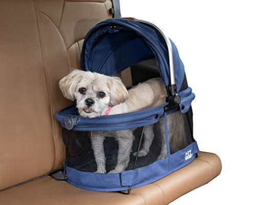Pet Gear View 360 Pet Carrier & Car Seat for Small Dogs & Cats with Mesh Ventilation for Easy Viewing, Midnight River (PG1040NZMR)