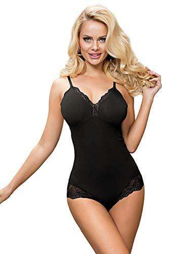 ohyeahqueen Bodysuit Dessous Damen Sexy Große Größen Nachtwäsche Kurz Body Spitze Top Reizwäsche Schwarz Nachtwäsche Einteilig(Schwarz,S-M)