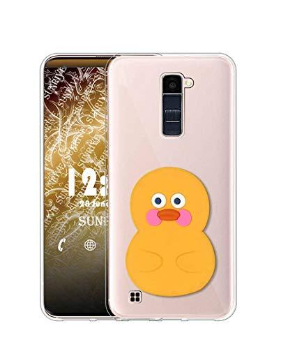 Sunrive Funda para LG K8 (2016), Silicona Slim Fit Gel Transparente Carcasa 3D Case Bumper de Impactos y Anti-Arañazos Espalda Cover(A1 Pato)