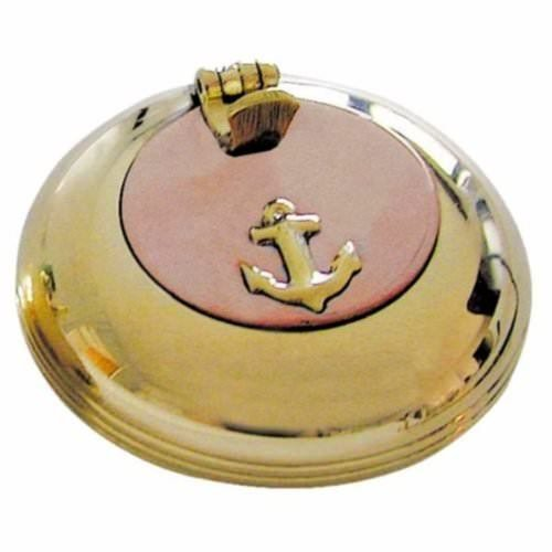 magicaldeco maritimer Taschen- Aschenbecher - Messing/Kupfer Zigarettenablage 5 cm