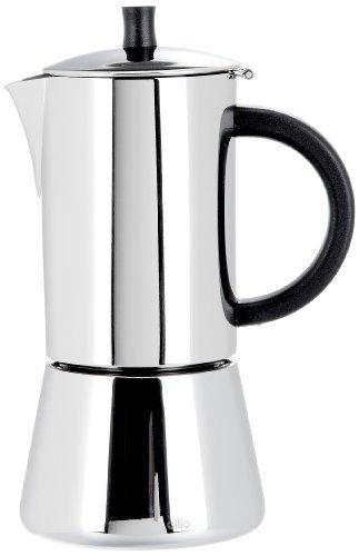 Cilio Espressokocher Figaro, 6 Tassen, Edelstahl, Induktion geeignet