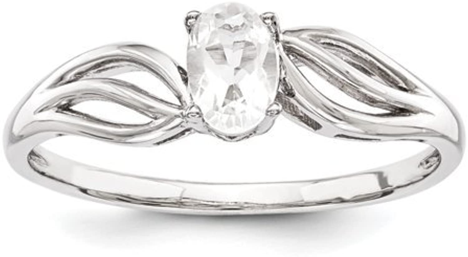 gold and Watches Sterling Silver White Topaz Ring