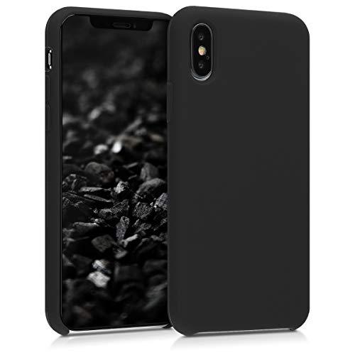 kwmobile Hülle kompatibel mit Apple iPhone XS - Hülle Handyhülle gummiert - Handy Hülle in Schwarz