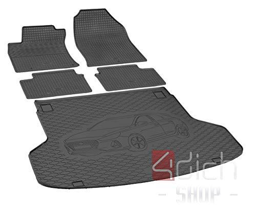 Passgenaue Kofferraumwanne und Gummifußmatten geeignet für Hyundai i30 SW ab 2017 bis 2019 EIN Satz + Autoschoner MONTEUR