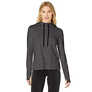 Amazon Essentials Women's Studio Terry Long-Sleeve Convertible Hood Shirt
