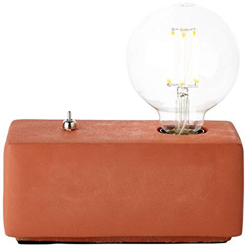 BRILLIANT lamp Wilona tafellamp terracotta  1x G95, E27, 40W, geschikt voor standaardlampen (niet inbegrepen)  Schaal A ++ tot E  Met tuimelschakelaar