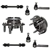 Detroit Axle - 8pc Front Wheel Bearings Outer Tie Rod Ends Sway Bar Link and Lower Ball Joints Kit Replacement for 1994-2004 Ford Mustang