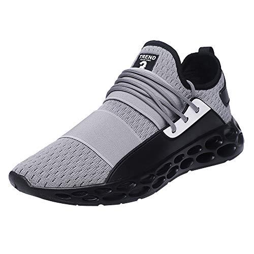 Dasongff Sneakers voor heren, zwart, ademende hardloopschoenen, fitnessschoenen, schokabsorberend, low-Top gymschoenen, mesh-sportschoenen met luchtkussen, hardlopen fitness