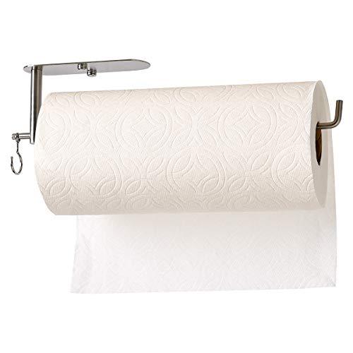 Multi Function Paper Towel Holder Under Cabinet, Mountable Roll Paper Towel Rack for Kitchen